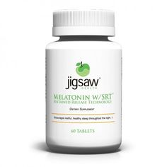Jigsaw Health Melatonin With SRT. Good Sleep With Melatonin! http://www.honeycolony.com/product/good-sleep-with-melatonin/