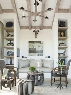 Truly interesting interiors mix eras and styles.