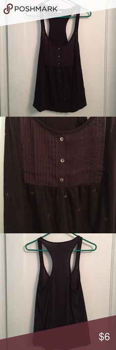 Aerie Brown Beaded Tank Very good condition. Racerback. Cross posted on Ⓜercari & ♈inted. aerie Tops Tank Tops