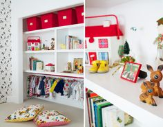 Great way to make a kids closet accessible and attractive