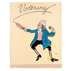 SAVIGNAC Raymond. Voltaire. Affiche offset