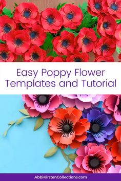 Obtain these straightforward paper poppy templates to make your personal stunning paper flowers step-by-step. Paper Flowers Craft, How To Make Paper Flowers, Crepe Paper Flowers, Flower Crafts, Diy Flowers, Poppy Flowers, Handmade Paper Flowers, Making Tissue Paper Flowers, Paper Sunflowers