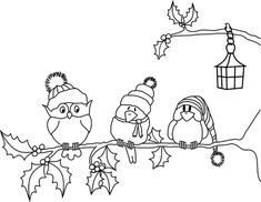 Terrific Pics Embroidery Patterns birds Ideas Beyond the Fringe: Winter Birds Free Digi Hand Embroidery Patterns Free, Embroidery Flowers Pattern, Bird Embroidery, Christmas Embroidery, Embroidery Ideas, Christmas Colors, Christmas Art, Illustration Noel, Embroidery Patterns