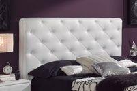 Cabecero tapizado blanco barato