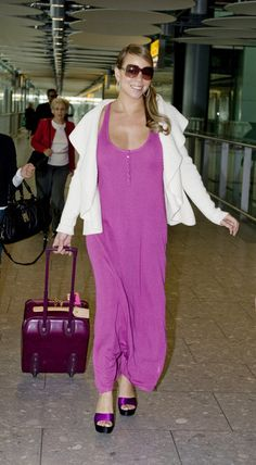 Mariah Carey Photos - American singing sensation Mariah Carey is pictured arriving at Heathrow Airport. The singer was en route to the Cannes Film. - Mariah Carey Arriving At Heathrow Airport