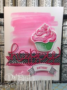 Sweet Cupcake, Melon Mambo, texture paste, glitter, watercolor, Hello You thinlet, big shot, die cutting