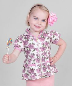 Take a look at this Pink Floral Hooded Top - Toddler & Girls by Bye Bye Birdie on #zulily today! #fall essentials