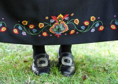 """Embroidery everywhere. New Book 2012 """"Norwegian embroidered Hungarian Embroidery, Folk Embroidery, Embroidery Patterns, Folk Costume, Costumes, Scandinavian Embroidery, Norwegian Vikings, Norwegian Style, Folk Fashion"""