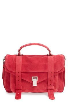 Proenza Schouler 'Medium PS1' Suede Satchel at Nordstrom.com. Brightly hued suede transforms Proenza Schouler's iconic PS1 satchel into a contemporary street-style staple, while polished silvertone hardware pulls the look together with polished ease.