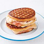 Grilled Ham and Cheese Waffle Sandwiches Recipe | MyRecipes.com
