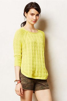 Collected Pullover #anthropologie the sweater color is great.