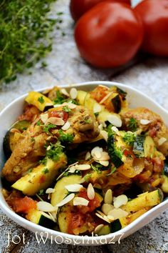 Kurczak duszony w bardzo aromatycznym sosie