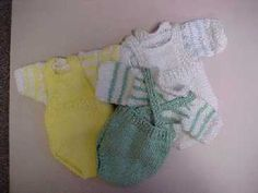 Hearts of Gold Preemie Knits Sun Suit and Sweater