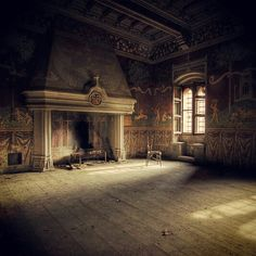 Master Bedroom of an abandoned castle in Spain. Description from pinterest.com. I searched for this on bing.com/images