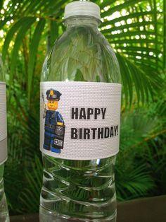 Lego City Police themed birthday party via Kara's Party Ideas KarasPartyIdeas.com Cake, decor, printables, invitation, favors, stationery, and more! #lego #legoparty #policeparty #legocity #karaspartyideas (5)