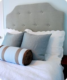DIY Simple Tufted Headboard (start to finish time about 4-5 hrs)