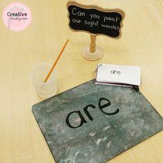 sight word practice center for kindergarten
