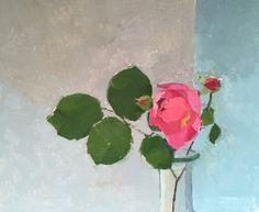 Johnny's Rose oil on board #flower#still-life