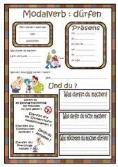Modalverben im Praeteritum Arbeitsblatt - Kostenlose DAF Arbeitsblätter