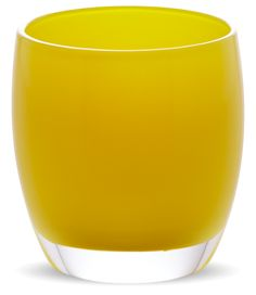glass votive candle holders | sunshine | glassybaby