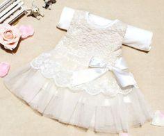 White Newborn Dress White Wedding Dress White Christening