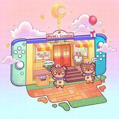 Animals Crossing, Animal Crossing Fan Art, Animal Crossing Villagers, Arte Do Kawaii, Kawaii Art, Cute Kawaii Drawings, Cute Animal Drawings, Ac New Leaf, Japon Illustration