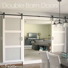 Here's everything I wish I'd known about how to hang double barn doors before we started our project. All the tips, tricks, and resources I used!