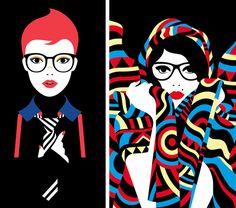 Minimal Illustration by Malika Favre
