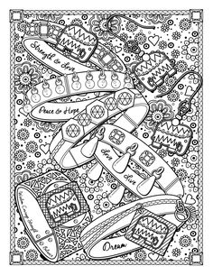 Dream Jewels A Page From The Best Jewelry Adult Coloring Book