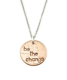 Another great find on #zulily! Copper 'Be The Change' Penny Pendant Necklace #zulilyfinds