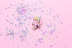 Candy Cane - Gold Hard Enamel Kawaii Holiday Pin