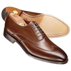 Charles Tyrwhitt - Walnut Bateson calf leather wingcap shoes