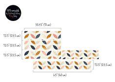 Decals voor Kura Bed Ikea Scandinavische stijl patroon