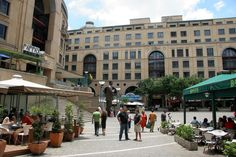 Sandton City Square, with a great selection of Restaurants.