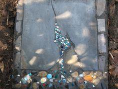 Cool looking mosaic stepping stone. (Katie Waller), via Flickr