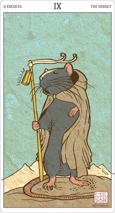 Muroidea Tarot, The Hermit.