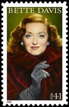 Bette Davis postage stamp