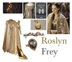 """Roslyn Frey"" by josislver ❤ liked on Polyvore featuring Maison Rabih Kayrouz, Dolce&Gabbana and Jane Tran"