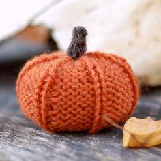 Knitting Pattern Pumpkin Autumn Decor Fall Decor Knit