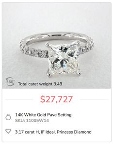 See how this shopper saved big on an H color, internally flawless 3-carat diamond. Visit the blog for more.