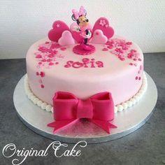 New happy birthday kids cake 23 Ideas Happy Birthday Cake Girl, Baby Birthday Cakes, Bolo Minnie, Minnie Mouse Cake, Fondant Cakes, Cupcake Cakes, Bolo Original, Fun Cupcakes, Girl Cakes