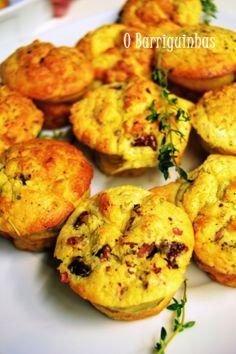 Muffins de Chouriço e Alecrim