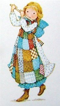 Tooting the flute ~ Holly Hobbie