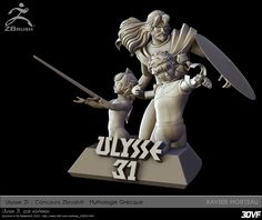 www.3DVF.com : Portfolio de Morteau Xavier   xavlexav - Ulysse 31 Ulysse 31, Statue, Inspiration, Ideas, Biblical Inspiration, Thoughts, Sculptures, Inspirational, Inhalation
