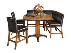 A Corner Dining Set With Chairs And Bench Seating Is Perfect For Casual Ashley