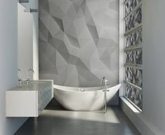 Smart Forms (From PIXERS) - Wall mural, sticker on bathroom cabinet and geometric pattern on window film  #wallmurals #stickers #decals
