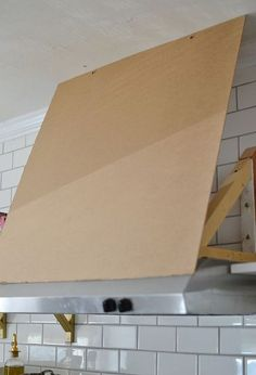 Diy Range Hood Cover Plans Re What S The Cheapest Way To Make A Huge Vent Hood Like This Pi Fireplace Stove Hood Pinterest No Matter What
