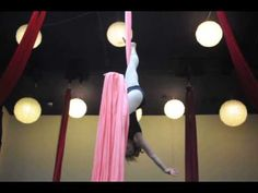 Stanzie Langtree on Aerial Silks June 2013  This is really awesome