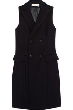 Marni black wool-blend vest