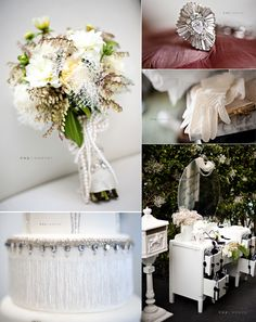 1920s art deco wedding; flowers, cake, accessories & decor